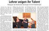 Artikel Lehrerkonzert BZ